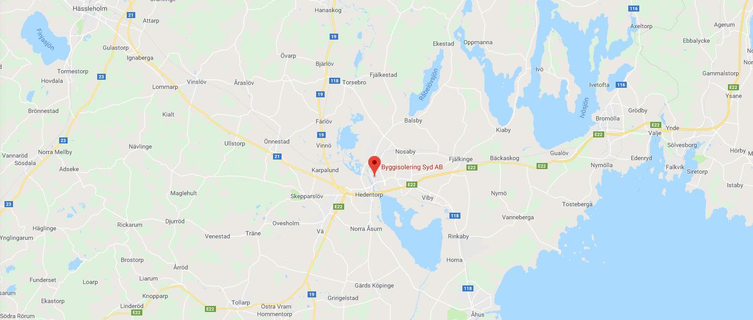 Lösullsisolering utförs av Byggisolering Syd AB i Kristianstad
